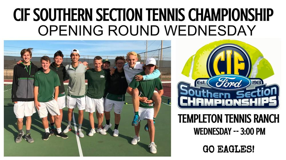 BOYS TENNIS MOVING ON TO CIF TOURNAMENT